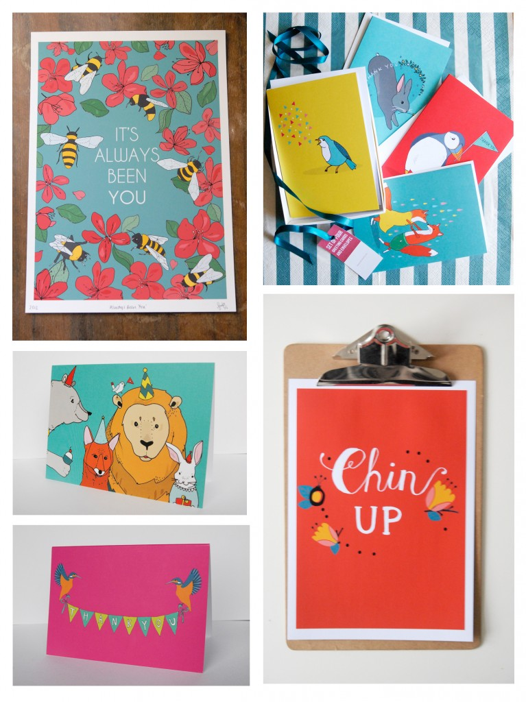 A selection of Stacie's colourful work