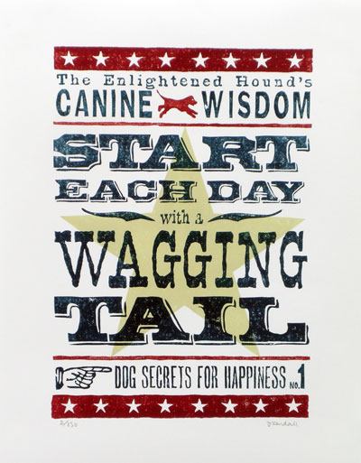 Start Each Day with a Wagging Tail Card