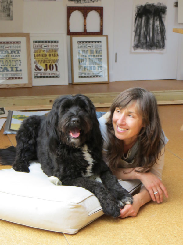 Debbie Kendall and her dog Figo