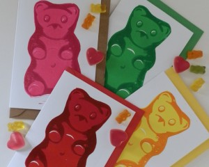 gummy bear cards