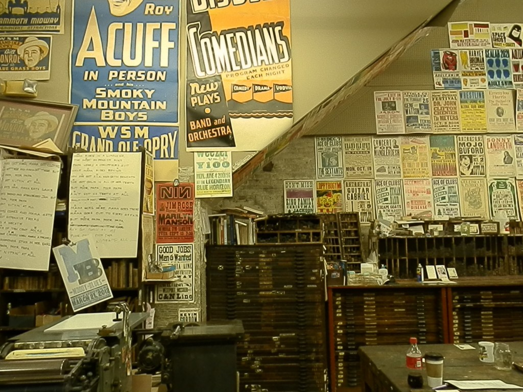 Hatch Show Print interior