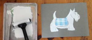 Print roller and scottie dog card