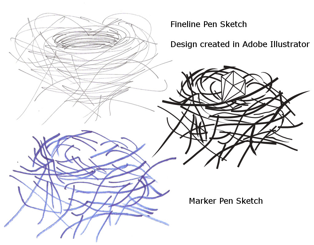 Drawing printout how to draw a bird nest - Bird Nest In Tree Drawing Photo 16