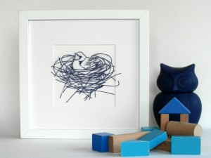 Personalised new baby papercut available in our Etsy store