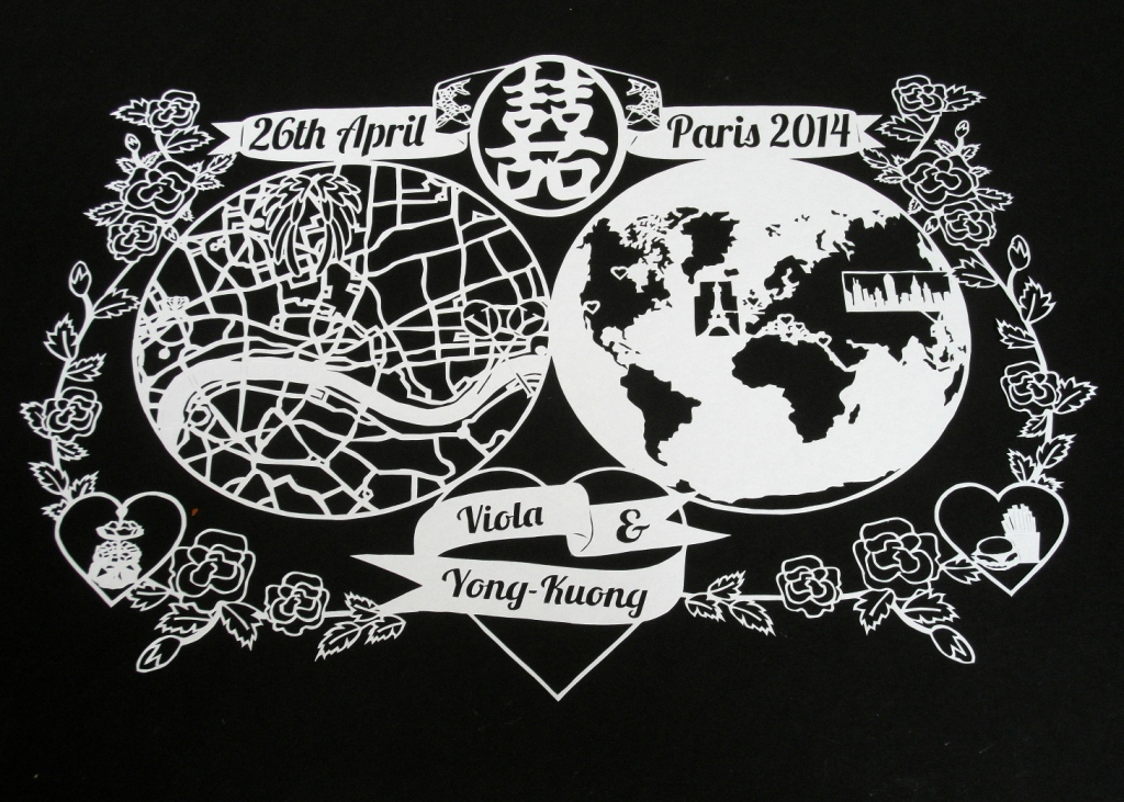 Papercut illustrated map
