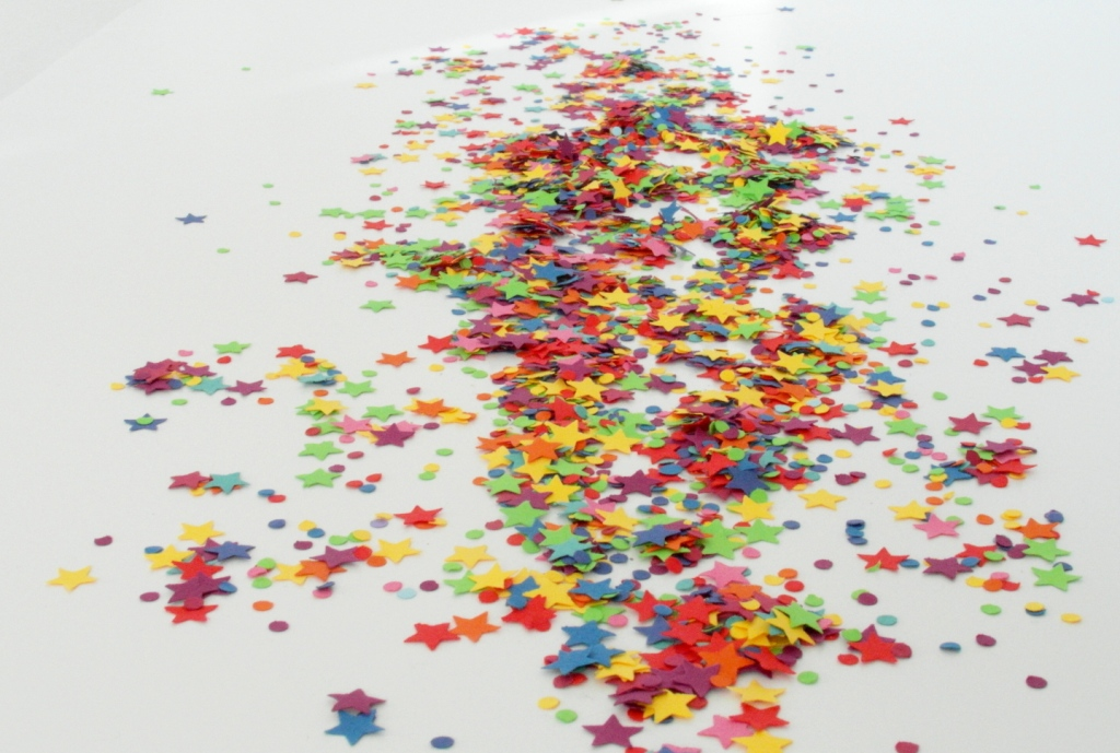 Star shaped Rainbow Confetti