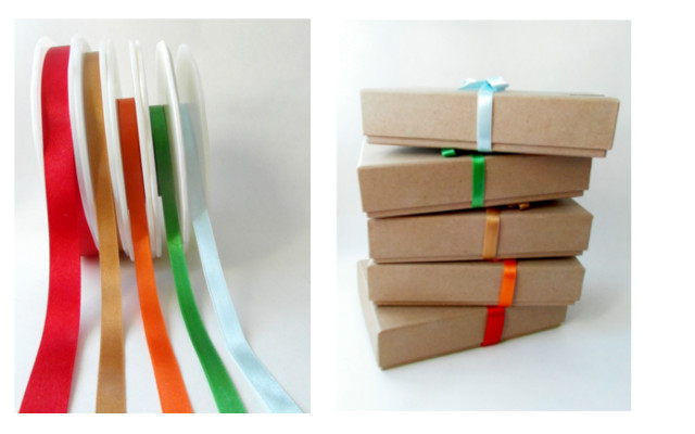 Rainbow Ribbon Gift Wrapped Boxes